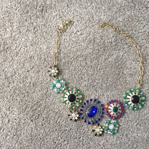 J. Crew Floral Statement Necklace
